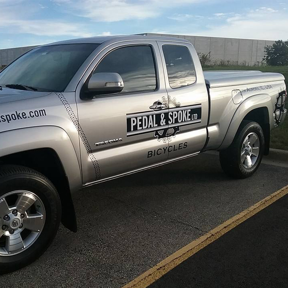 Pedal & Spoke - Vehicle Lettering - SignFX Sugar Grove, IL