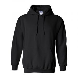 Gildan Black Hoodie 18500
