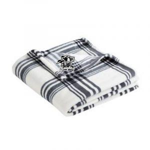 Kaneland Black and White Plaid Blanket