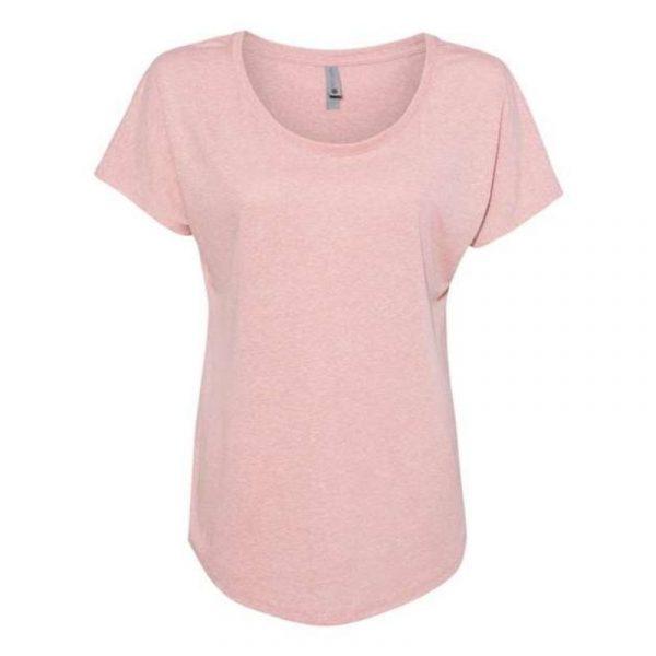 Next Level Women's Shirt 6760 Knight Head Dessert Pink