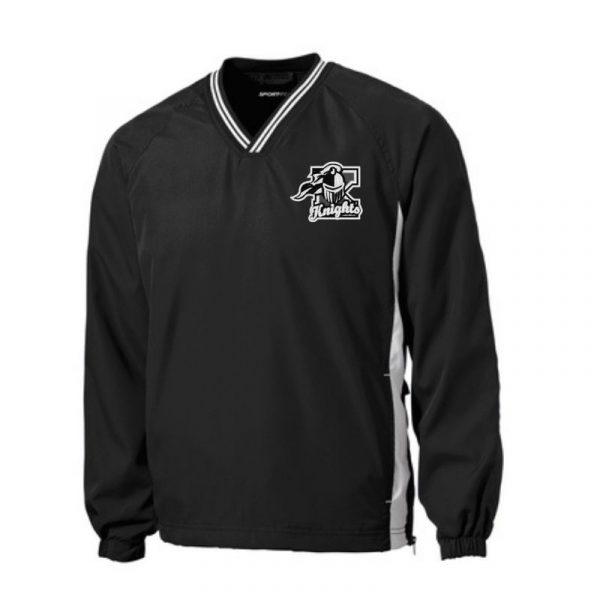 Sport Tek V-Neck Wind Shirt Kaneland Knights Logo