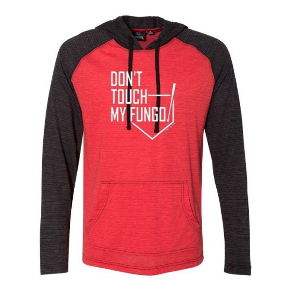 Don't Touch My Fungo Light Weight Hoodie Red Black