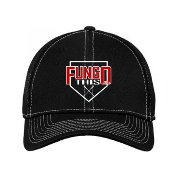 FungoThis Hat Black White Stitch