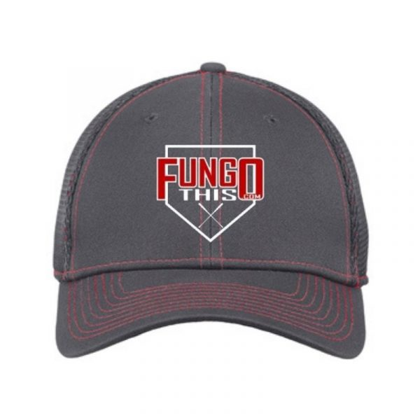 FungoThis Hat Charcoal Red Stitch