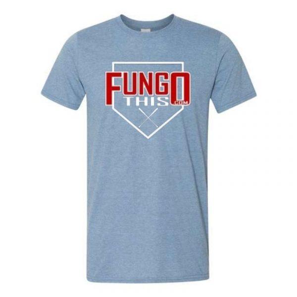 Fungo This Logo T-Shirt Heather Blue