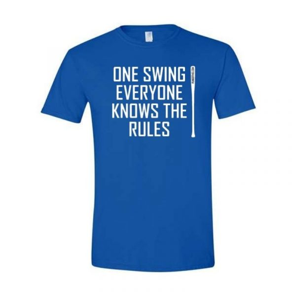 FungoThis One Swing Everyone Knows The Rules T-Shirt Royal Blue