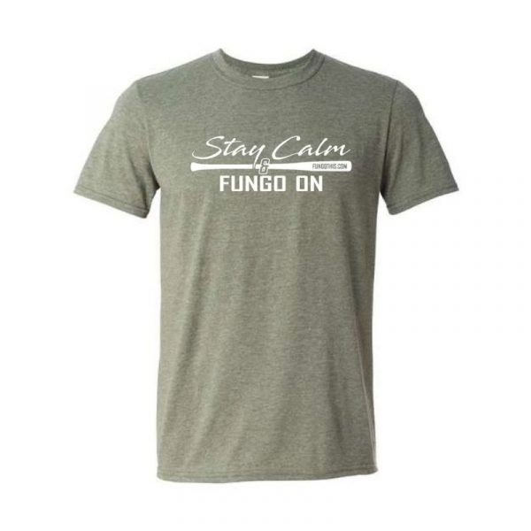 Stay Calm and Fungo On T-Shirt Green