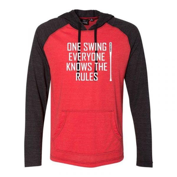 FungoThis One Swing Lightweight Hoodie Red Black